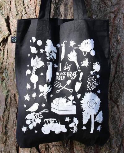 Picture of Organic cotton tote bag - BLACK